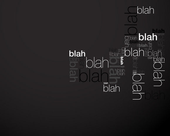 blah blah blah black wallpaper
