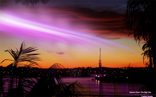Aurora Over The Big City Best Sunrise Landscape Wallpapers