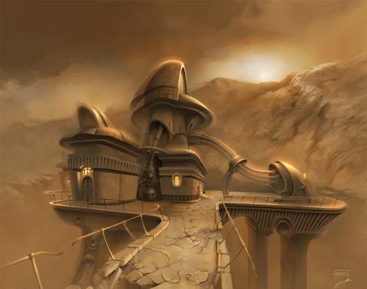 Elevated Tank Fantastic Sci Fi Wallpapers From Out Of World