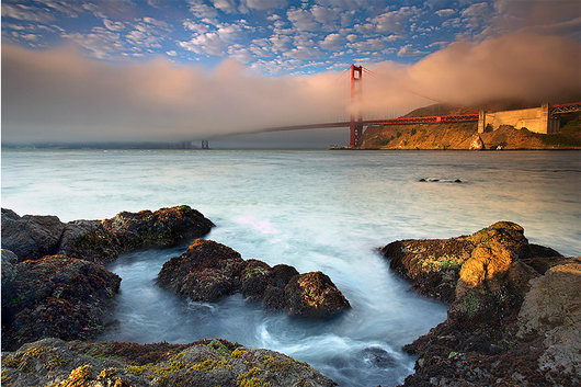 Foghorns at the Golden Gate Best Sunrise Landscape Wallpapers