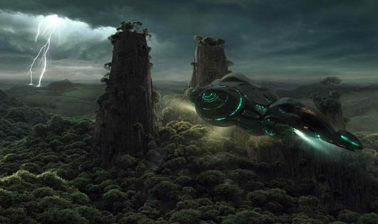 Scifi wallpaper 002 Fantastic Sci Fi Wallpapers From Out Of World