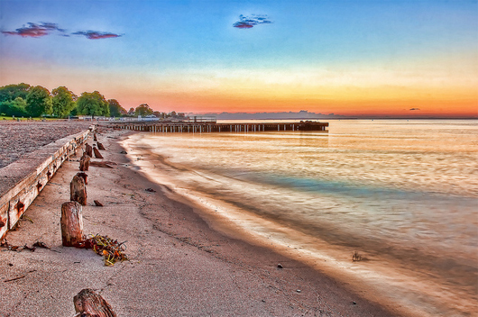 Sunrise of Bellevue beach Best Sunrise Landscape Wallpapers