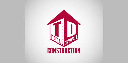 Total Drywall Construction 30+ Construction Logos