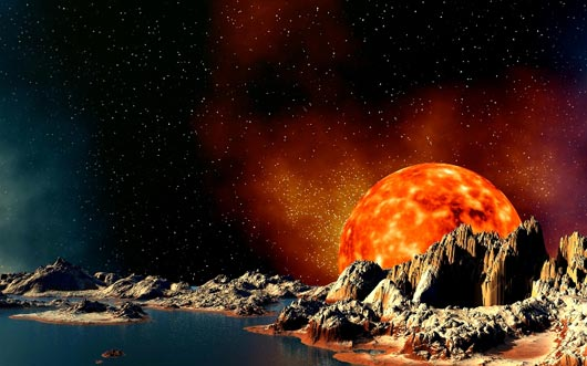 Vulcan Moon Fantastic Sci Fi Wallpapers From Out Of World