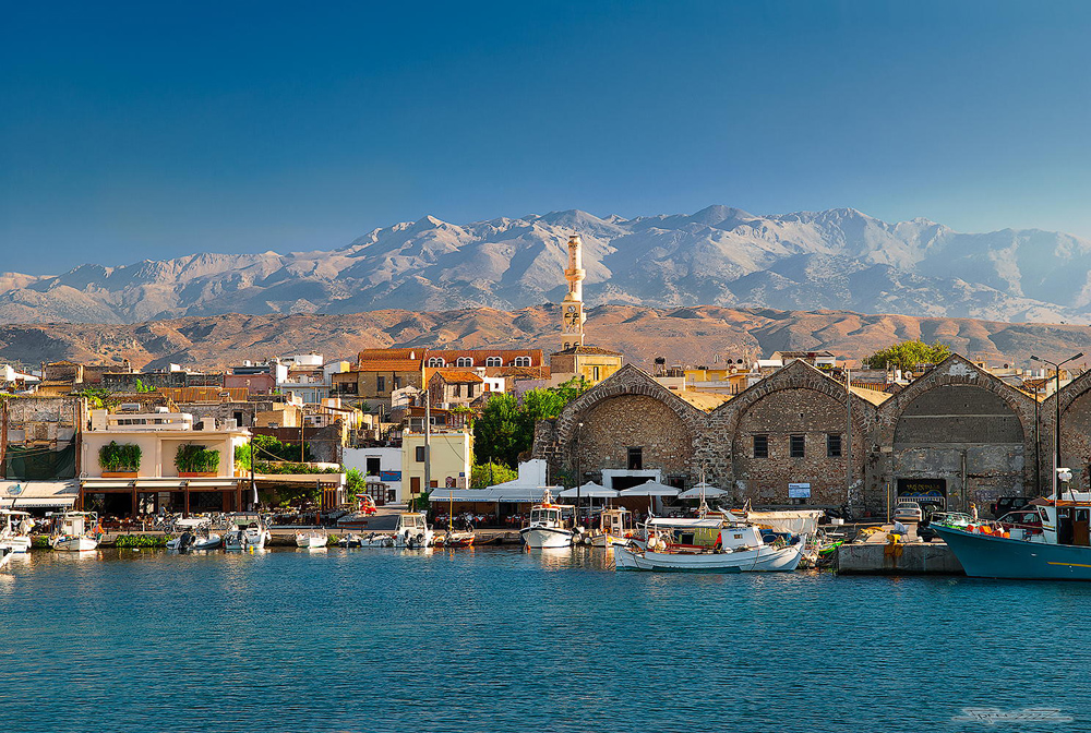 Chania. Old Port, Crete