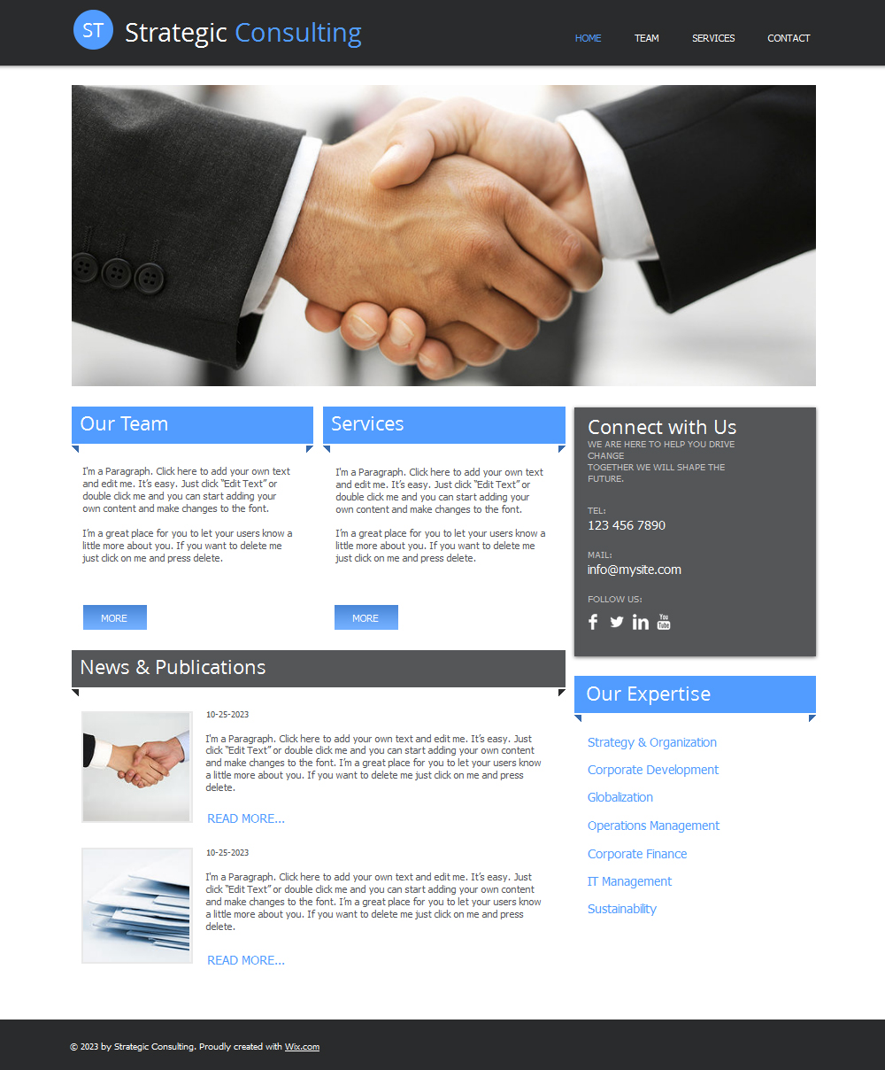 free consulting HTML5 template