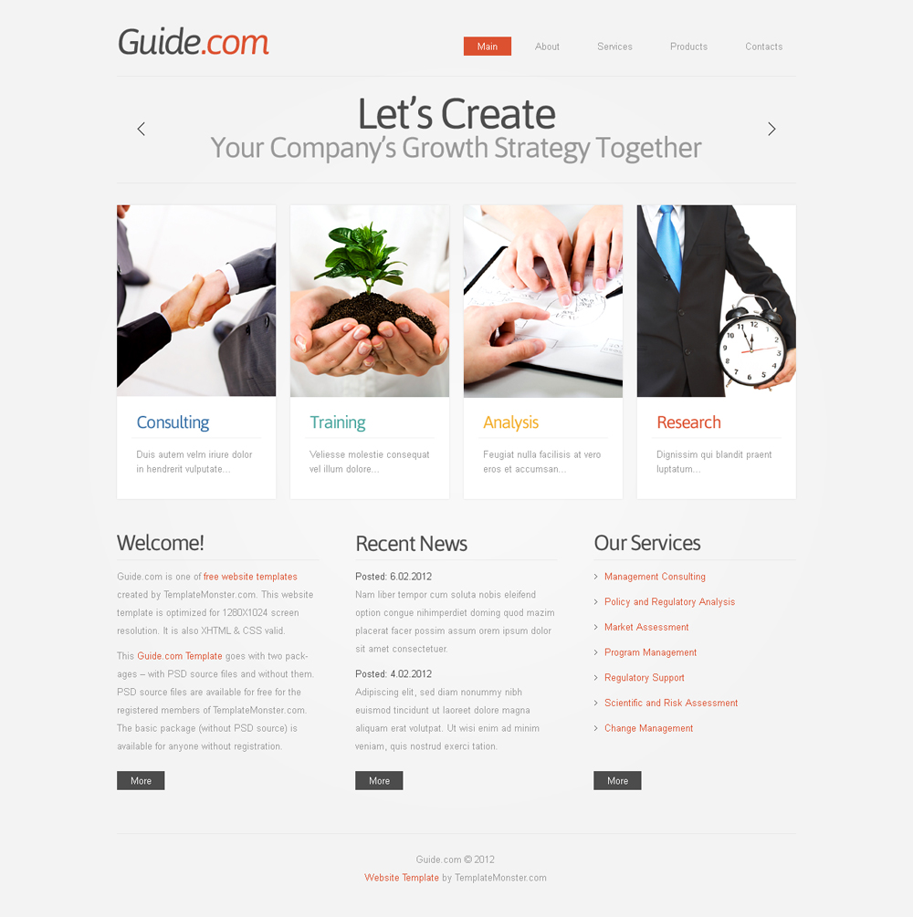 free business consulting template
