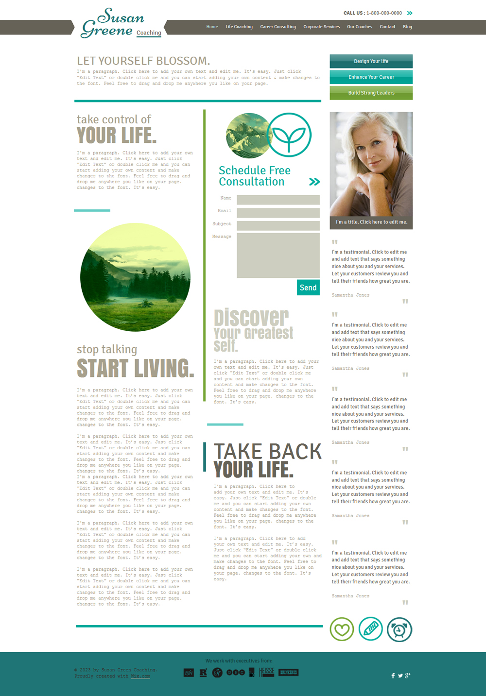 free life coach HTML5 template