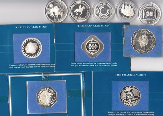 10 casino coins back Artistic Designs Collection of Casino Tokens