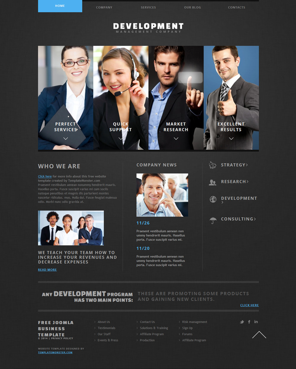 free development joomla theme