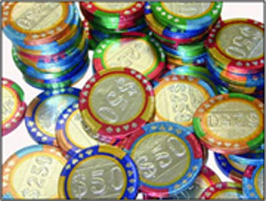 Chocolate Casino Chips 2 Artistic Designs Collection of Casino Tokens