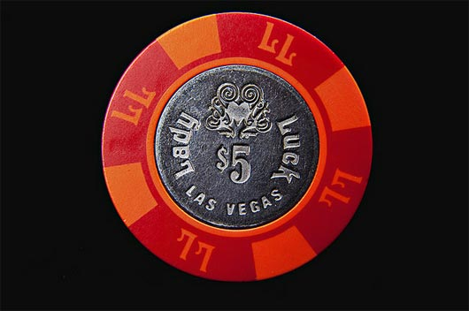 Lady Luck Artistic Designs Collection of Casino Tokens