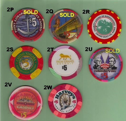 Ontario Charity Casino house chip Artistic Designs Collection of Casino Tokens