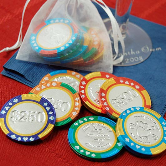 Personalized Chocolate Poker Chips Artistic Designs Collection of Casino Tokens