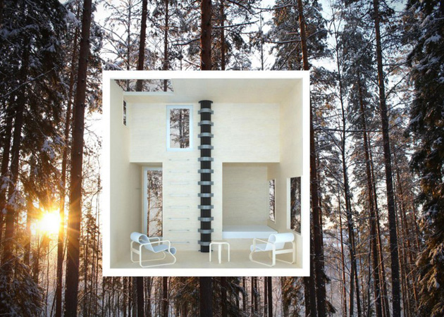 the mirrorcube tree house in sweden1 12 Creative and Innovative Tree House Designs