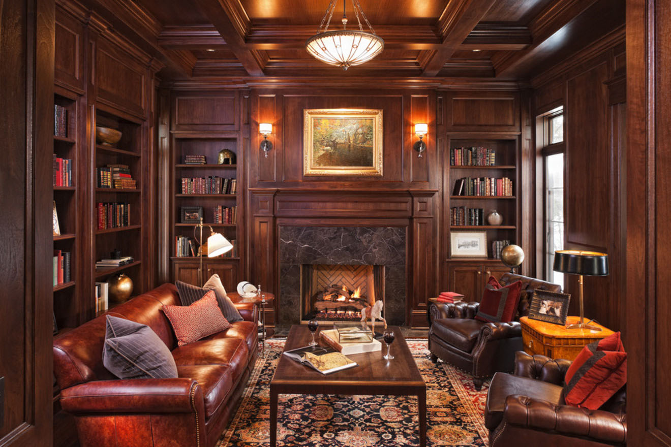 30 Classic Home Library Design Ideas 12 30 Classic Home Library Design Ideas Imposing Style