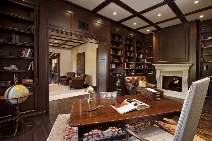 30 Classic Home Library Design Ideas 13 30 Classic Home Library Design Ideas Imposing Style