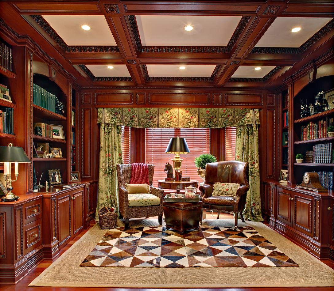 30 Classic Home Library Design Ideas 25 30 Classic Home Library Design Ideas Imposing Style