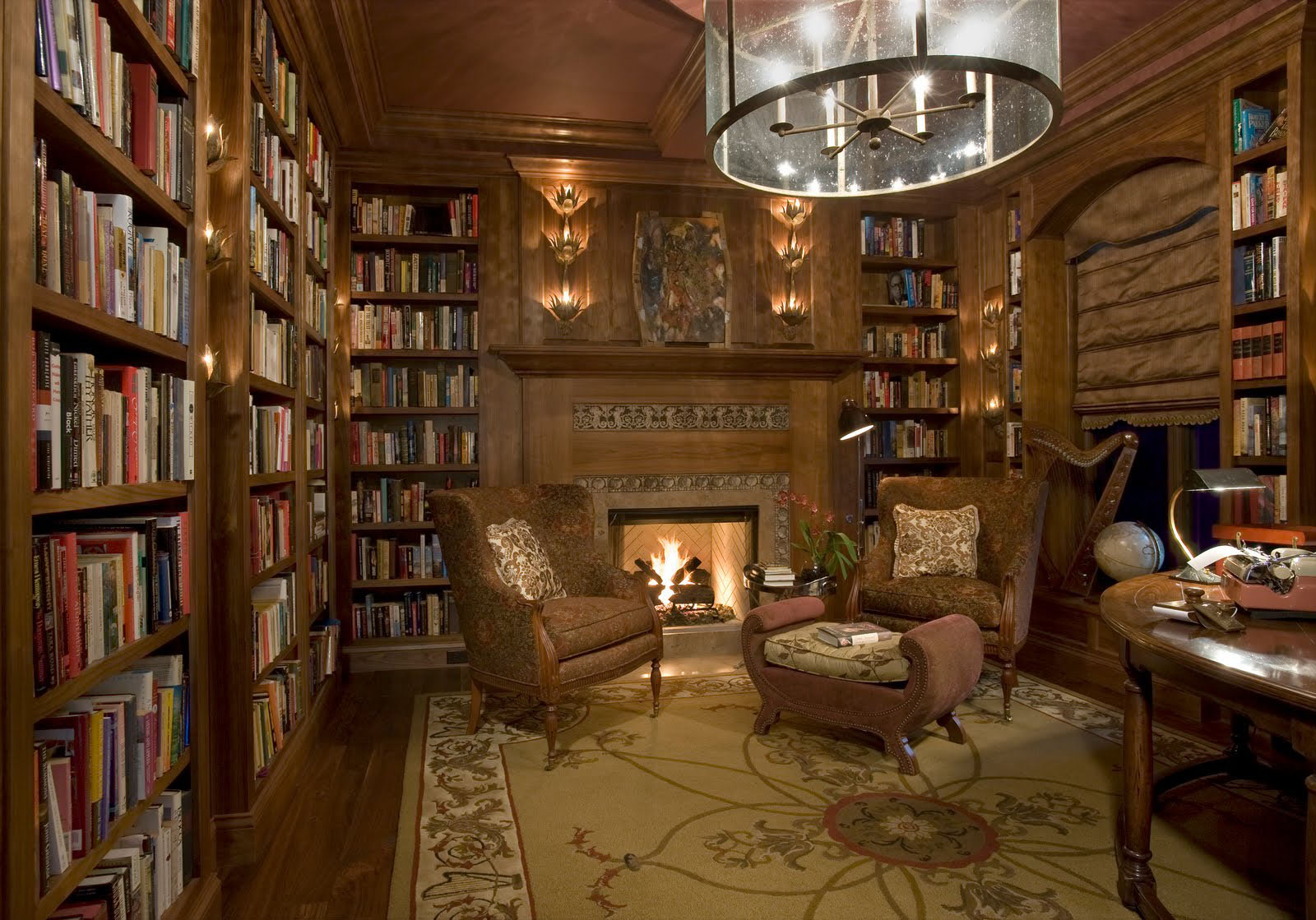 30 Classic Home Library Design Ideas 26 30 Classic Home Library Design Ideas Imposing Style