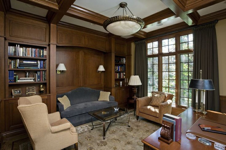 30 Classic Home Library Design Ideas 29 30 Classic Home Library Design Ideas Imposing Style