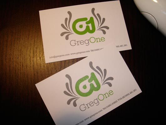 GregOne business cards Get Lots of Inspirations of Professional Business Cards