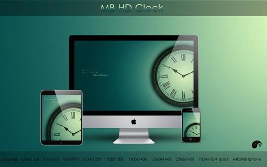 MB HD Clock Best HD Wallpapers Will Enhance Look of Desktop