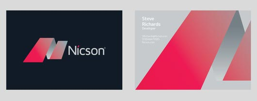 Nicson Identity Get Lots of Inspirations of Professional Business Cards