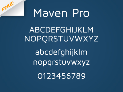 maven pro by joe prince 50 Free Fonts Youll be Tempted to Download