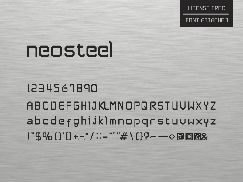 neosteel modern font by sam 50 Free Fonts Youll be Tempted to Download