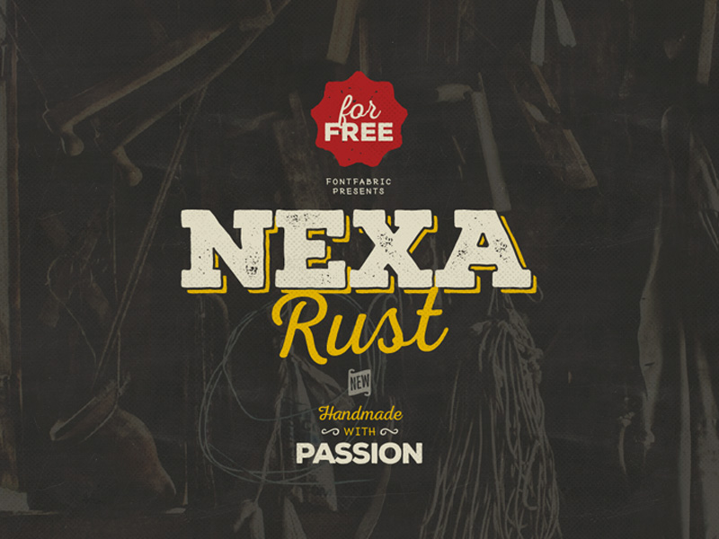 nexa rust free font family by fontfabric 50 Free Fonts Youll be Tempted to Download