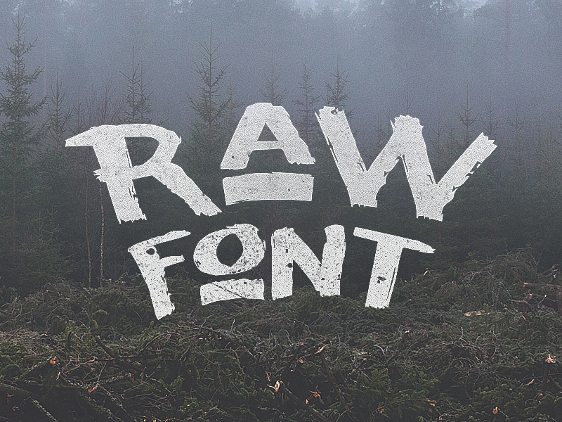 raw font by noe araujo 50 Free Fonts Youll be Tempted to Download