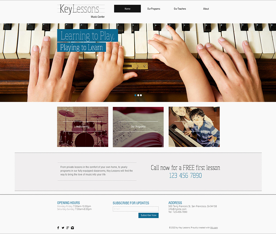Free Music School HTML5 Template
