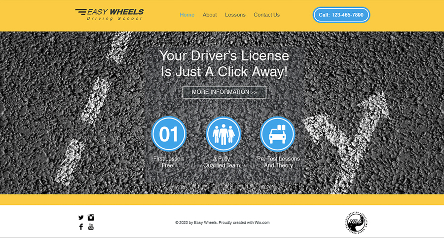 Free Driving School HTML5 Template
