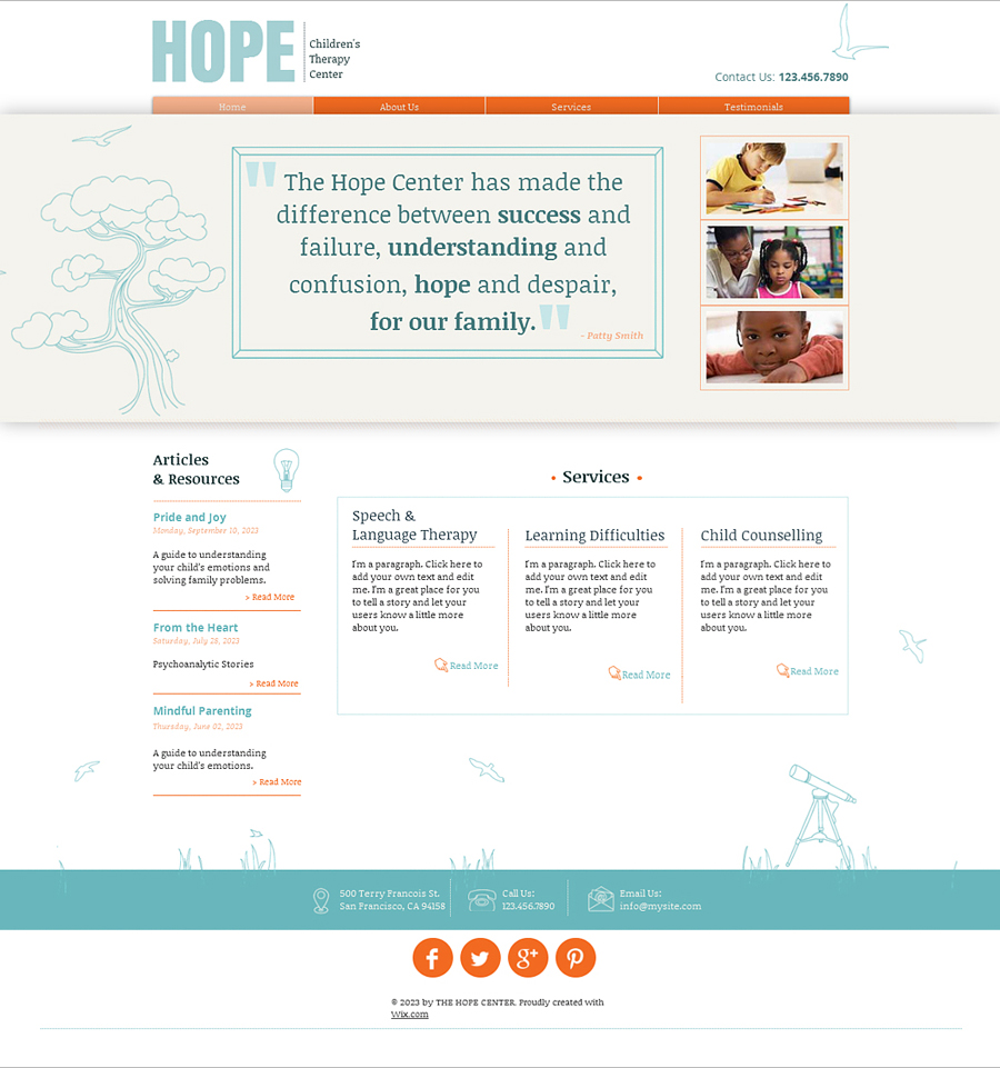 Free Therapy Center HTML5 Template