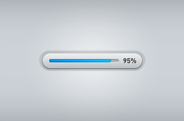 clean blue grey progress bar ui