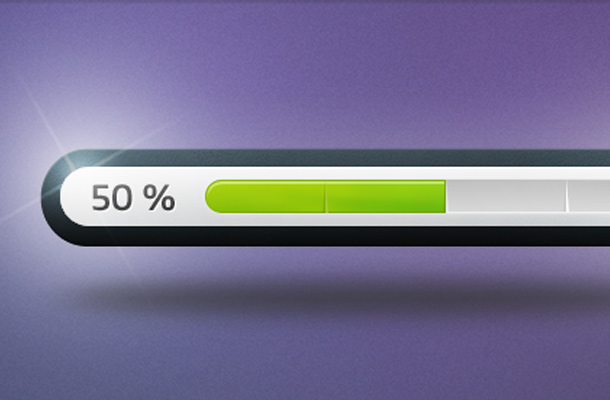 shiny green glossy psd freebie progress bar