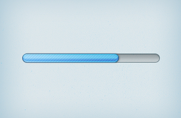 osx apple style blue bar progress