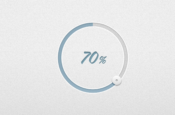 blue circular percentage indicator ui