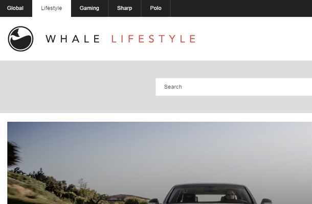 whale lifestyle search form design