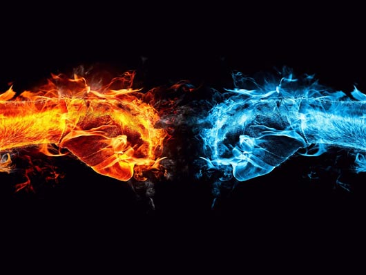 Fire and Ice Conflict Wallpaper Best HD Wallpapers on DesignDazzling Platform