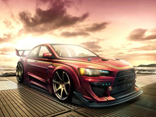 Mitsubishi Lancer Tuning Wallpaper Best HD Wallpapers on DesignDazzling Platform