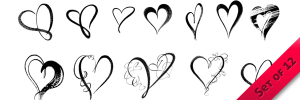 Brush Hearts