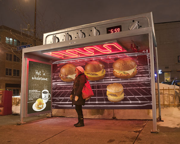caribou coffee oven bus stop 20+ Examples of Clever Bus Stop Advertising