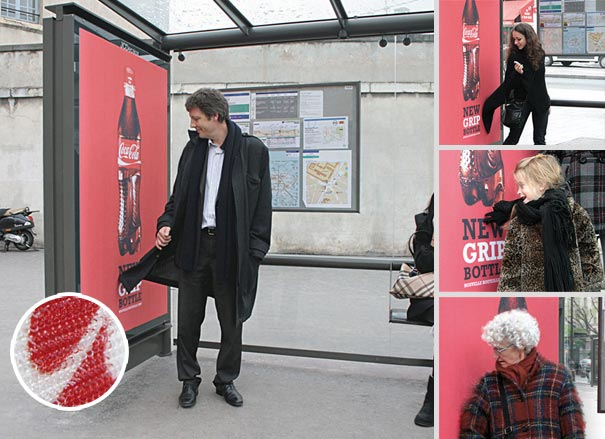 coca cola new grip bottle 20+ Examples of Clever Bus Stop Advertising
