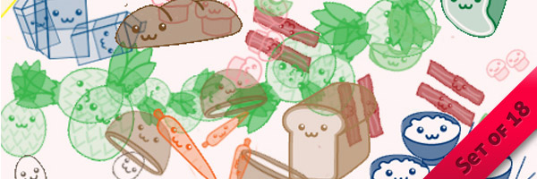 Cute Yummy Food Brushes