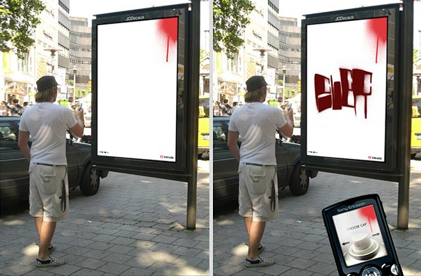 ecko clothing bluetooth graffiti 20+ Examples of Clever Bus Stop Advertising