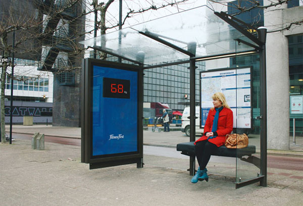 fitness first bus stop 20+ Examples of Clever Bus Stop Advertising
