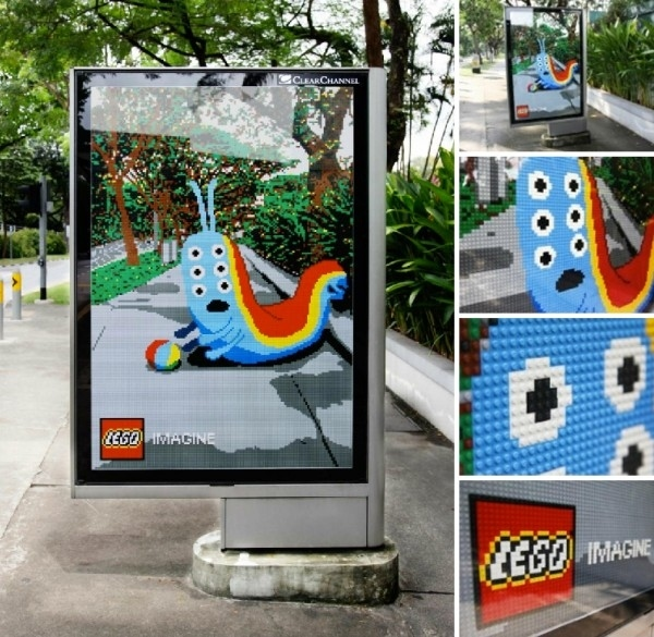 lego bus stop ad 20+ Examples of Clever Bus Stop Advertising