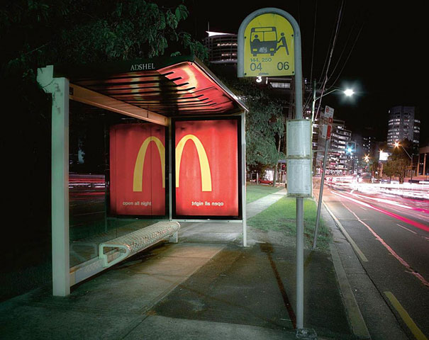 mcdonalds night 20+ Examples of Clever Bus Stop Advertising