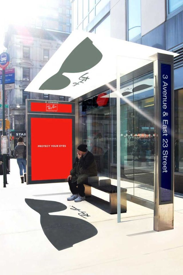 ray ban 20+ Examples of Clever Bus Stop Advertising